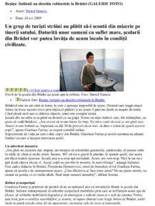 Adevarul. Articolo 24 ottobre 2009